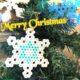 アイロンビーズ雪の結晶の図案と作り方のコツ!クリスマス飾りを素敵に☆